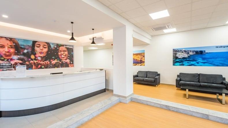 Reception area in Inlingua