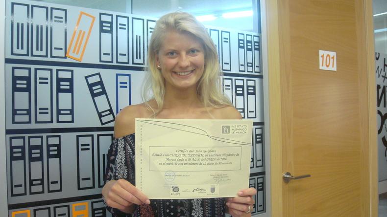Instituto Hispanico de Murcia certificate