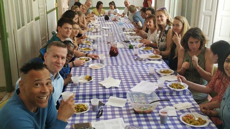 school dining area