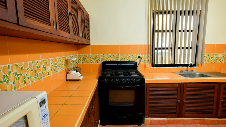 Shared kitchen in accommodation