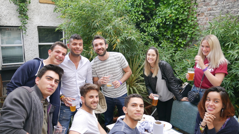 BBQ with new friends