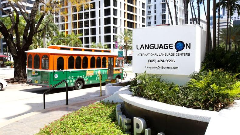 Language On entrance