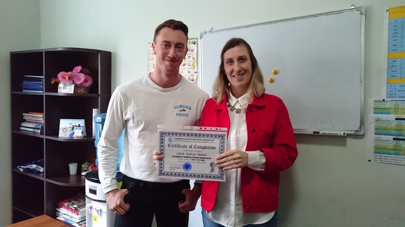 Student from Languages And Tourism Centre Georgia with certificate