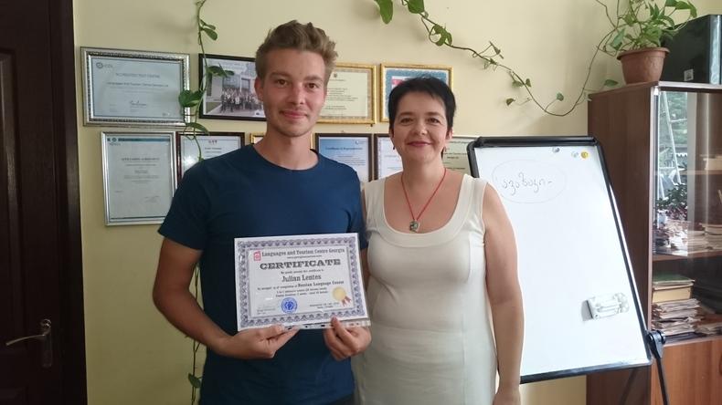 Student passed at Languages And Tourism Centre Georgia