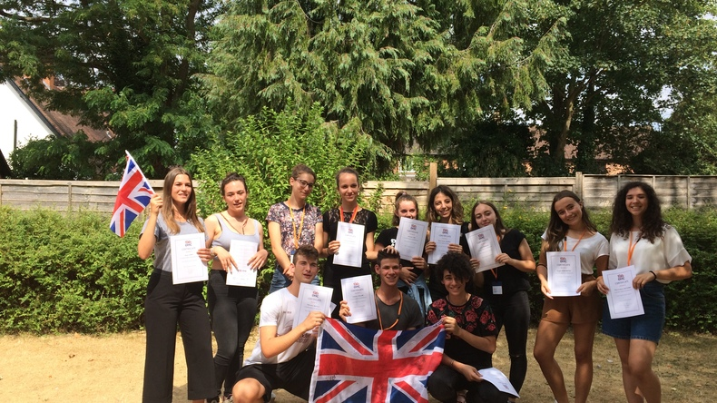 Certificates and english flag