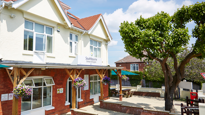 Main school front at Southbourne School of English