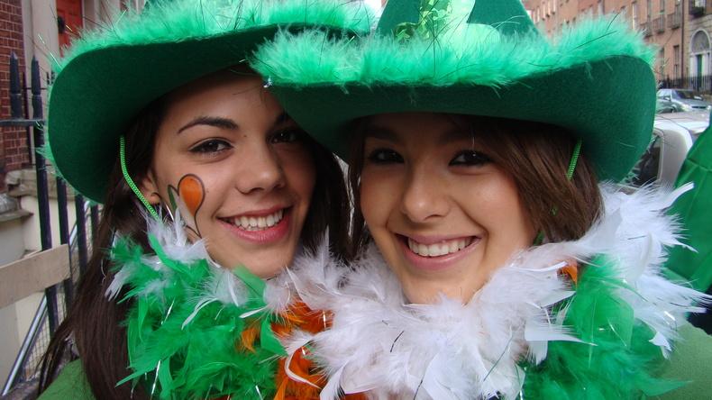 Students enjoying Dublin