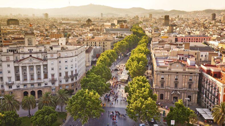 Widoki na Barcelonę
