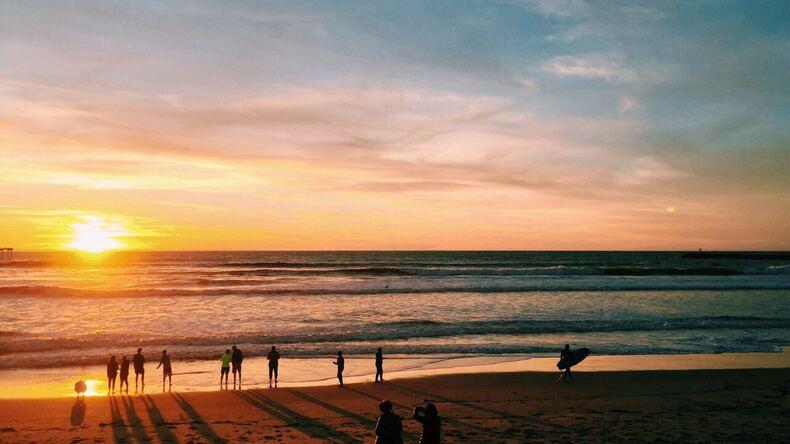 Пляжный закат в Сан-Диего