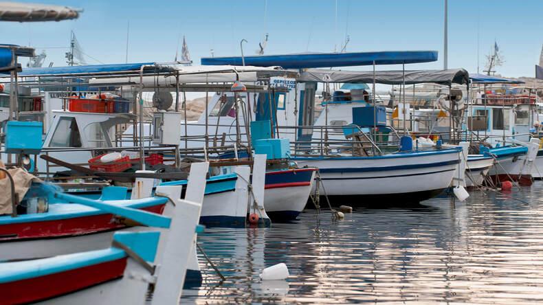 Larnaca fiskhamn