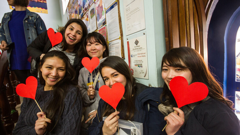 Glada studenter