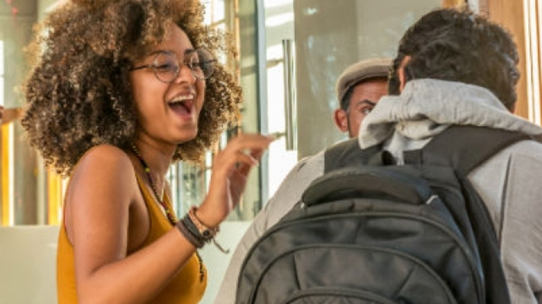 Studenten in Kaapstad