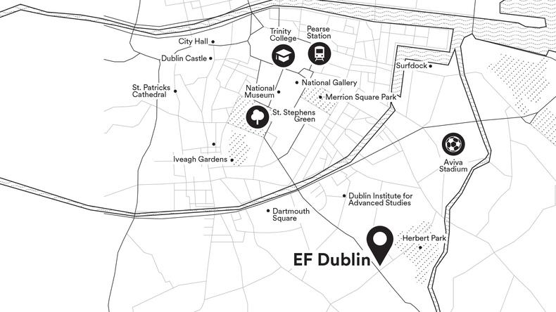 Kaart van Dublin