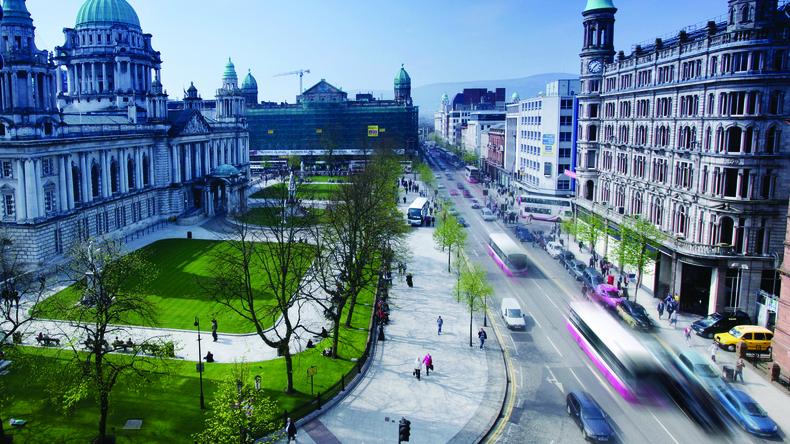 Uitzicht op Belfast