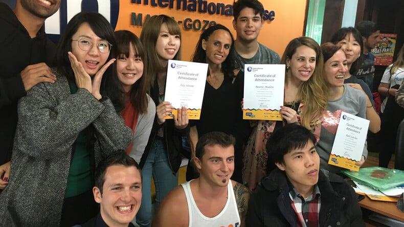 Succesvolle studenten