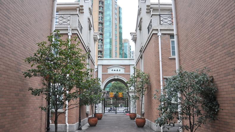 Schoolgebouw in Shanghai
