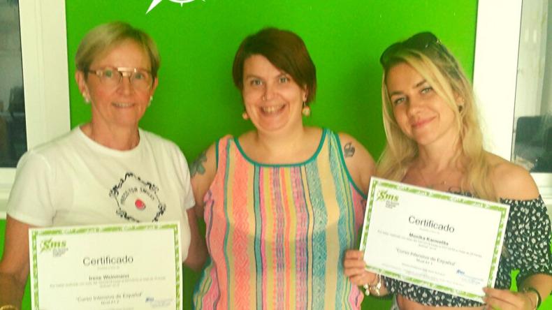 Studenten met certificaat