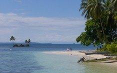 Principales destinos: Bocas del Toro (miniatura de la ciudad)